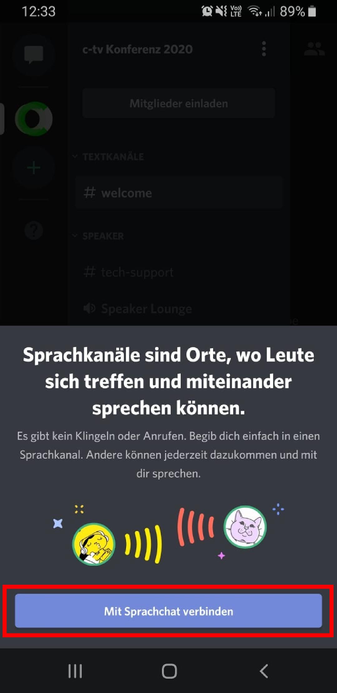 """Discord Sprachchat verbinden"""""""